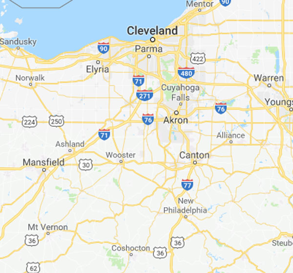 Cleveland and Akron OH Security Sales Territory