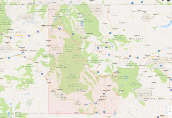 Idaho Security Sales Territory