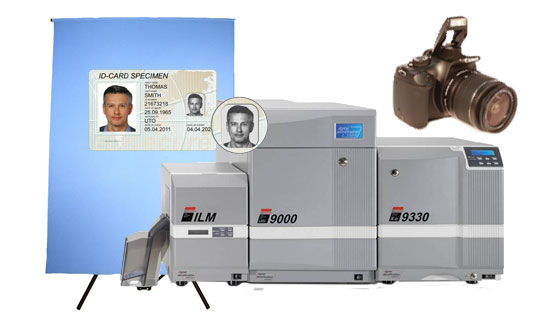 Plastic ID Card Laser Engraving System