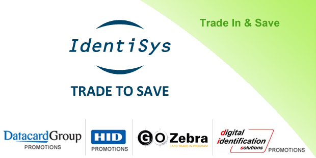 IdentiSys trade-in promotion for old ID card printers