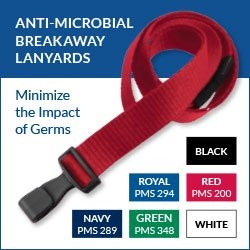 Anti-Microbial Lanyards