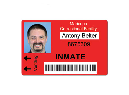 Correctional Facility Inmate ID Badge