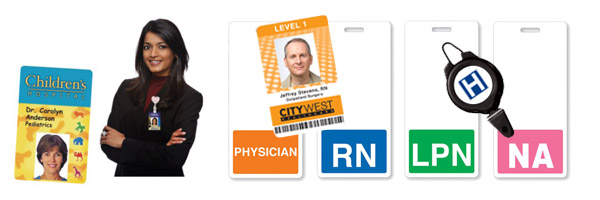 healthcare identification hospital id badges and cards identisys