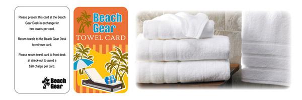 Hospitality Pool Towel Cards Card Program Identisys