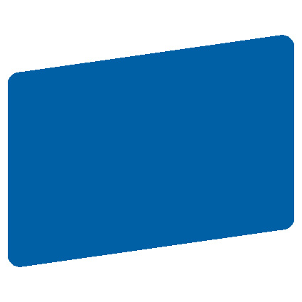 blank blue plastic card - Blank Plastic Cards