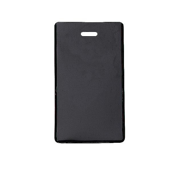 Black Semi-rigid Vinyl Luggage Tag Holder