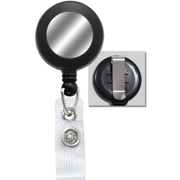 2120-3101 Retractable Card Reel, Black Plastic w/Metal Belt Clip & Strap