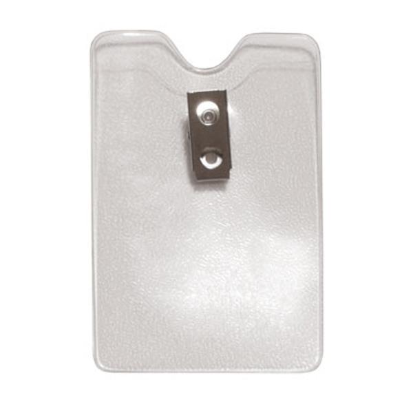 504-NITT Premium Clear Vertical Vinyl Card Display Holder w