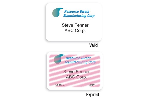 TIMEjet® Two-Part Inkjet-Printed 1-Day Expiring Visitor ID Badge