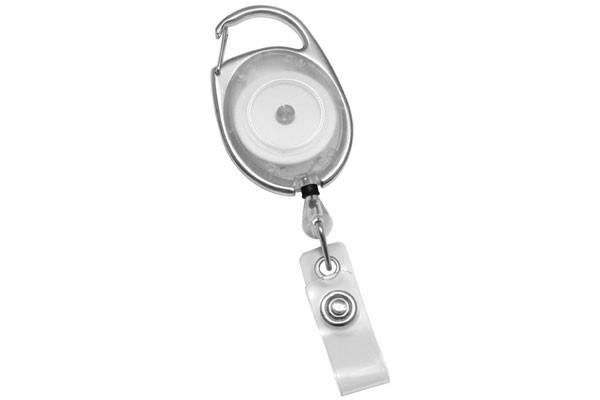 2120-7050 Translucent Clear Premium Carabiner Badge Reel w