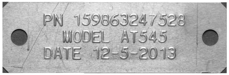 Cim M10he Manual Metal Plate Embosser