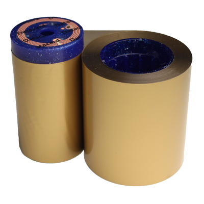 gold monochrome roll for ID cards