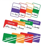 Colored IdentiSys Visitor ID Badges
