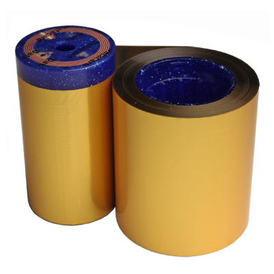 metallic gold monochrome roll for ID cards